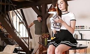 X-Angels.com - Lena Reif - Kneeled cock polisher