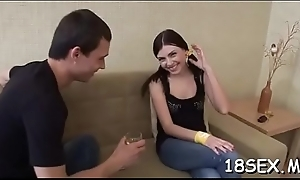 Beloved teen had her first copulation just a little whilst ago