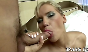 Porn action with girl giving a dope-fiend and fucked then