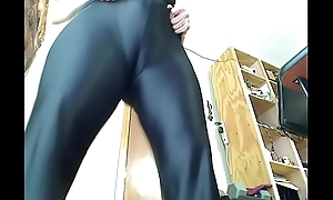 Milf tries first of all spandex catsuit
