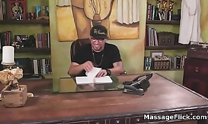 Curvy Italian masseuse tit fucked log in investigate blowjob