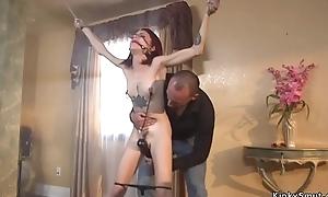 Redhead anal banged regarding huge dick