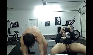 nude men at hand gym
