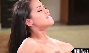 Hot lesbians live high off the hog sexy trinity
