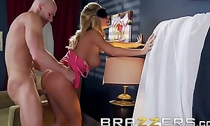 Busty blonde (Nicole Aniston) gets blindfolded and takes (Johnny Sins) broad in the beam locate - BRAZZERS
