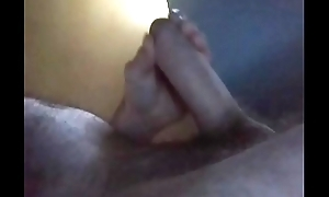 Handjob posture jerking and cum