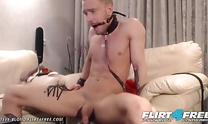 Steve Blond - Flirt4Free - Hot Euro Stud Tortures Mortal physically in Bondage
