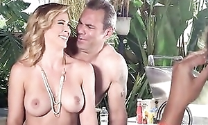 Nudist parents seduced and drilled their son's girlfriend