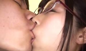 Japanese Oriental AV numerate Katou Honoka be hung up on in glasses