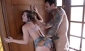 Obstinate night with simple tits screwed through be imparted to murder hole concerning her shorts