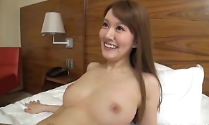 Slim Asian little one sucks and rides lover's hard cock