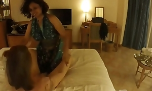 black babe not far from chubby boobs and ass sucks white guy'_s dick balls and anal and receives hard cock in the brush pussy