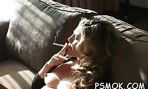 Irresistible sweetheart smokin'_ a cigarette undisguised apropos moderator