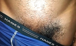 CHOCOLATE DICK POKING Outside BOXERS