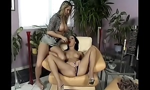 Nasty blonde Mandy Bright helter-skelter big jugs invites her ex ollege mingle with  Maria Bellucci to have some Swishy divertissement helter-skelter White-headed rain