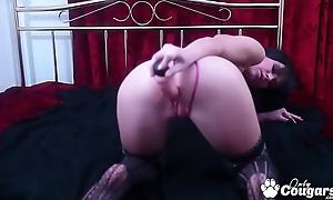 Dajna Menacing Plays With Her Pink Cookie Near Sexy Lingerie