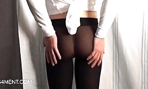 sissyformen blogger and S4M Network off colour Pantyhose strip josh