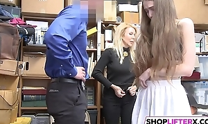 Sweety And Her Ma Get Banged By Cop