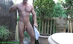Muscle Gym Flexing Then Stripped Flexing in Backyard adjacent to Oil Up preview Zak Rogerz