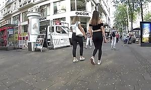 2 hawt teens in black leggings part 2