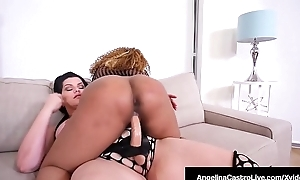Untouched Cuban Angelina Castro StrapOn Bonks Black BBW Yummy!